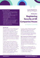 Registering Security at UK Companies House