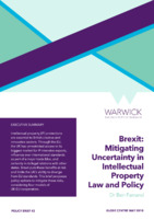 Brexit: Mitigating Uncertainty in Intellectual Property Law and Policy