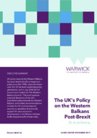 The UK's Policy on the Western Balkans Post-Brexit