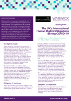 The UK's International Human Rights Obligations during COVID-19